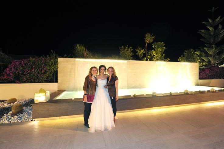Noi di Amatelier con la sposa Venere.  Amatelier Group: Royal Paestum, la location Buccella Associati, event planner Amatelier, l'abito da sposa e non solo