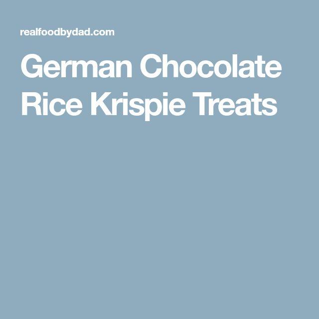 German Chocolate Rice Krispie Treats