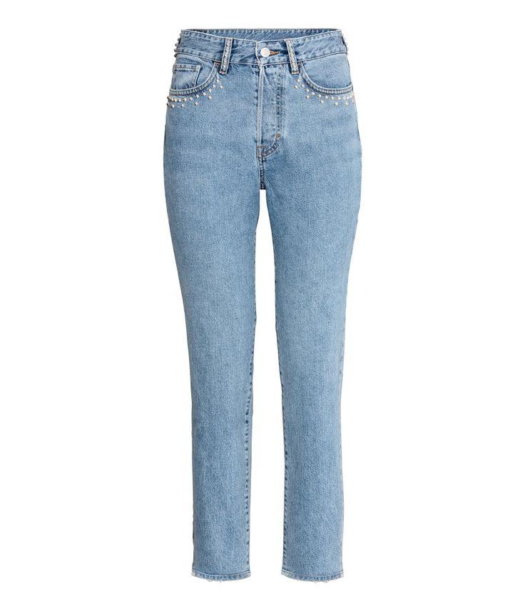Vintage High Jeans | Azul denim claro | MUJER | H&M MX
