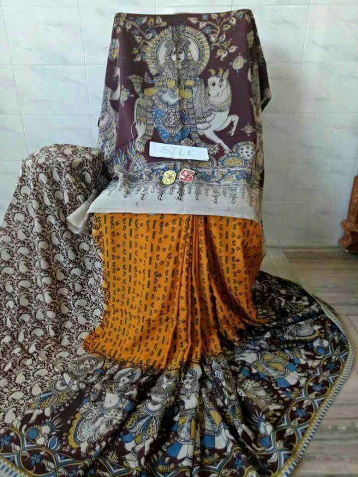 Kalamkari silk cotton sarees 4. Click here to buy https://www.moifash.com/south-ethnicz/product?id=58dddfc142dddfd334b24936