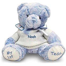 30 best personalized teddy bears for baby images on pinterest personalized my 1st teddy bear blue personalised teddy bearsbaby teddy negle Gallery