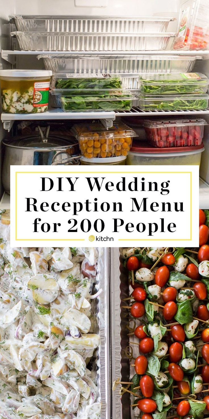 A DIY Wedding ceremony Reception for 200: The Menu (With Planning Ideas)