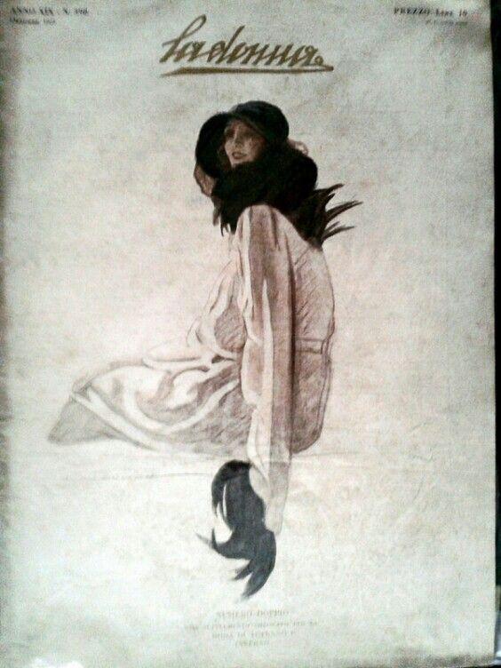 La donna,  cover by Marcello Dudovich  ITALY
