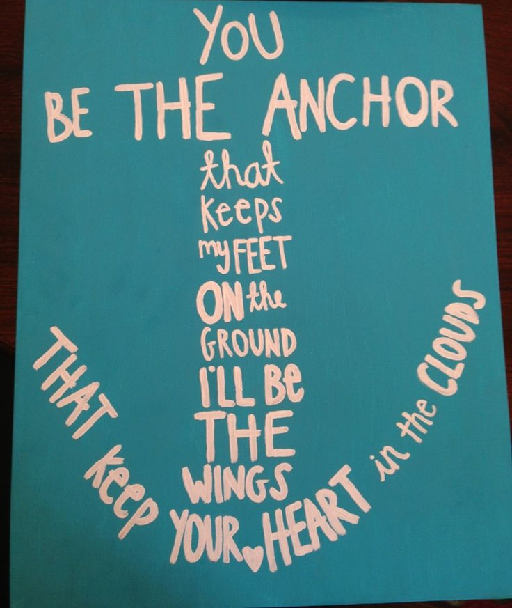 Anchor canvas painting for Sarah!