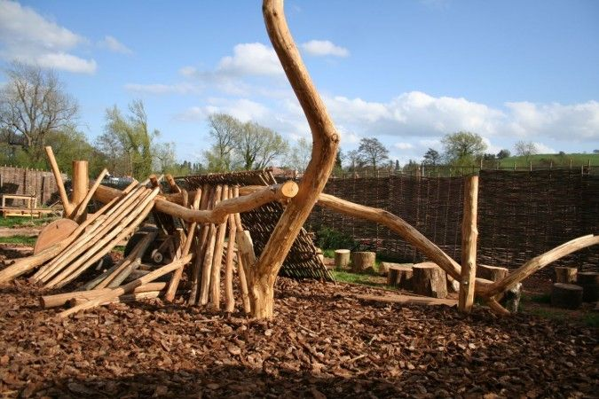 playscapes: Den-building frames for natural playgrounds