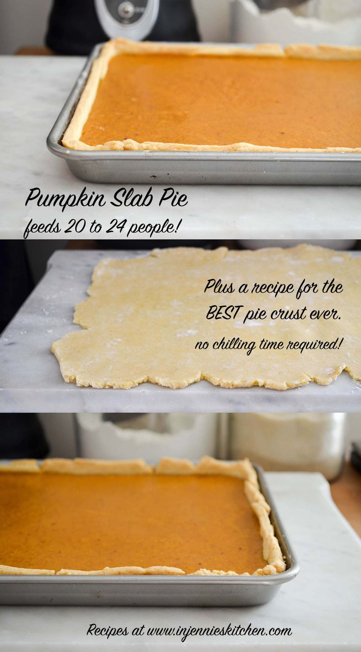 Hosting a huge crowd for Thanksgiving, or volunteered to bring dessert to your big family gathering? This Pumpkin Slab Pie is your answer. It feeds 20 to 24 people and is super easy to make. Get the recipe at In Jennie's Kitchen.