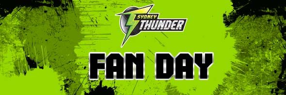 SYDNEY THUNDER BBL   Fans will have the chance to meet the Sydney Thunder squad who will be signing autographs, attending the Junior Member Clinic, Kids Zone and taking part in a Q&A session.   The family-themed day will also include a celebrity eight-a-side cricket match, a Kids Zone with face painters, balloon artists, cricket nets and a visit from Thor, the Sydney Thunder Mascot. Members will also have their final chance to be photographed for the Sydney Thunder Member Photo Wall for…