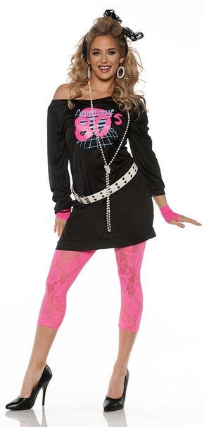 9adad525339 Women s Awesome 80 s Costume - Candy Apple Costumes - Women s 80s Costumes