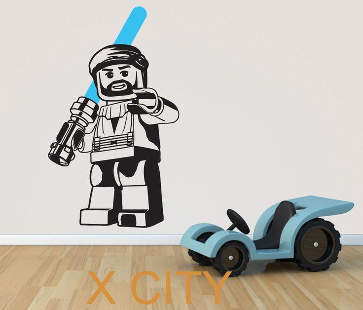 Obi WAN KENOBI Lego STAR WARS filme de transferência de Stencil decalque adesivos de parede vinil removível Mural decoração de casa 98 cm x 58 cm(China (Mainland))