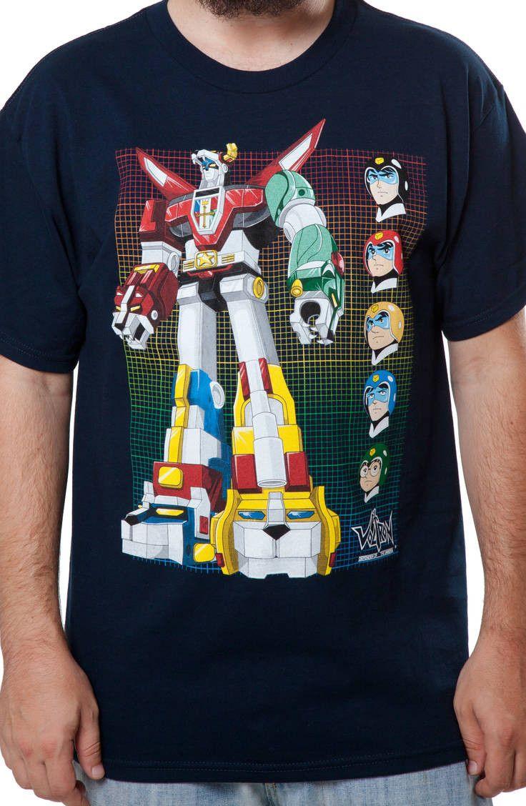 Voltron Faces T-Shirt: 80s Cartoons Voltron T-shirt
