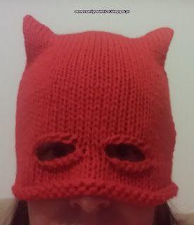 Os meus artigos de tricot (e desabafos de mãe): Gorro Máscara