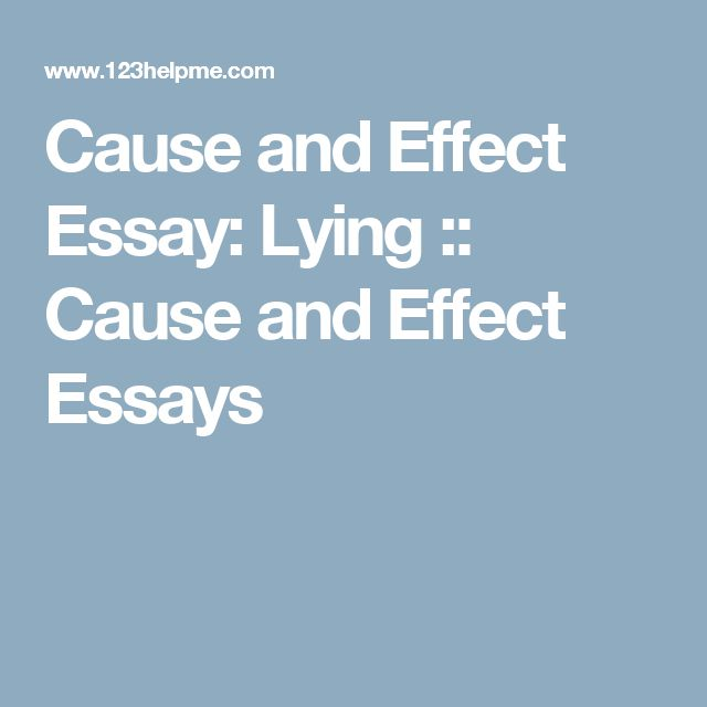 teaching cause effect essays