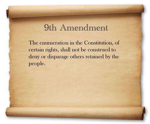 history government ninth amendment