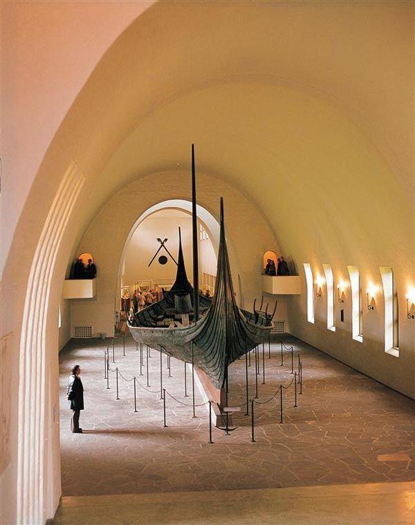 Gokstad viking ship, Opphavsrett Universitetets Kulturhistoriske Museer, Bygdoy, Oslo, East Norway
