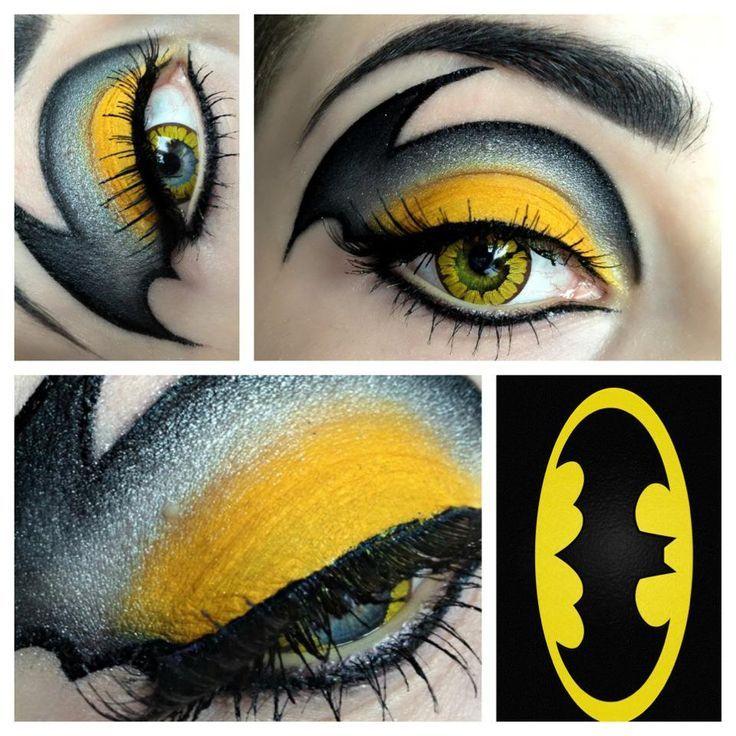 Batman eye makeup! #optometry #Halloween #makeup