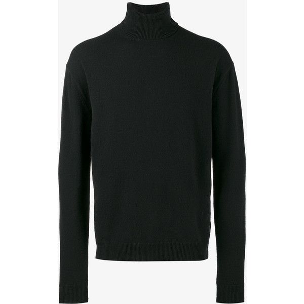 Haider Ackermann Invidia Turtle Neck Sweater ($740) ❤ liked on Polyvore featuring men's fashion, men's clothing, men's sweaters, black and mens turtleneck sweater