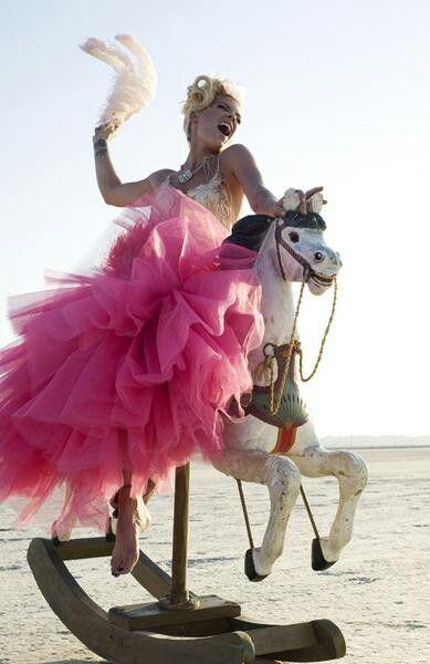 Pink wearing pink; love both!