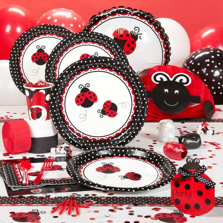 ladybug party ideas | ... LADYBUG Birthday Party Supplies - ON SALE NOW! | Party Supply Kits