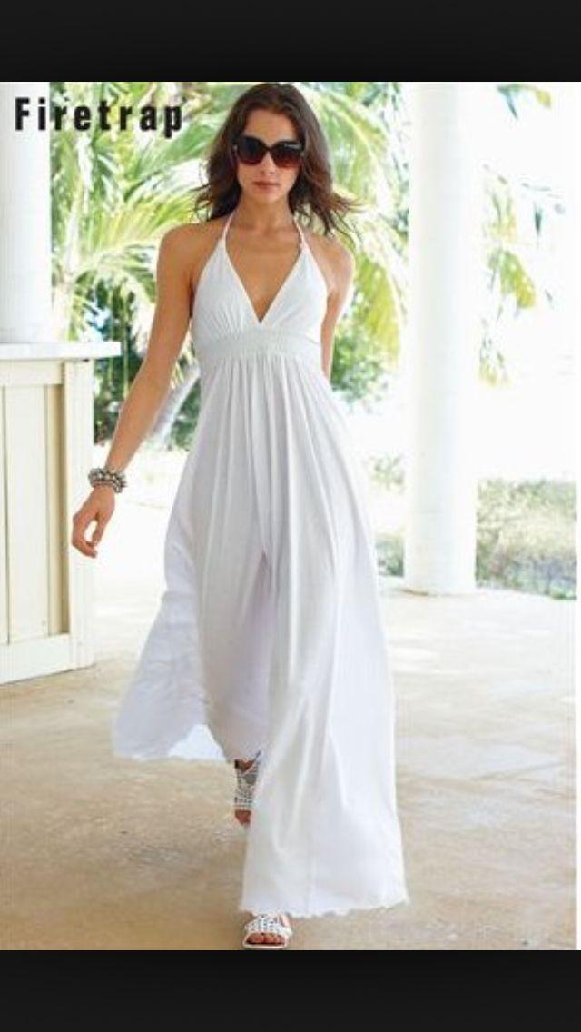 78  ideas about Long White Beach Dress on Pinterest - Beach ...