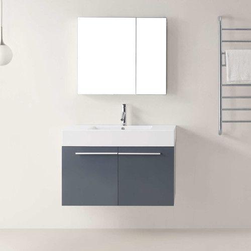 "Found it at AllModern - Midori 36"" Single Bathroom Vanity Set with Mirror"