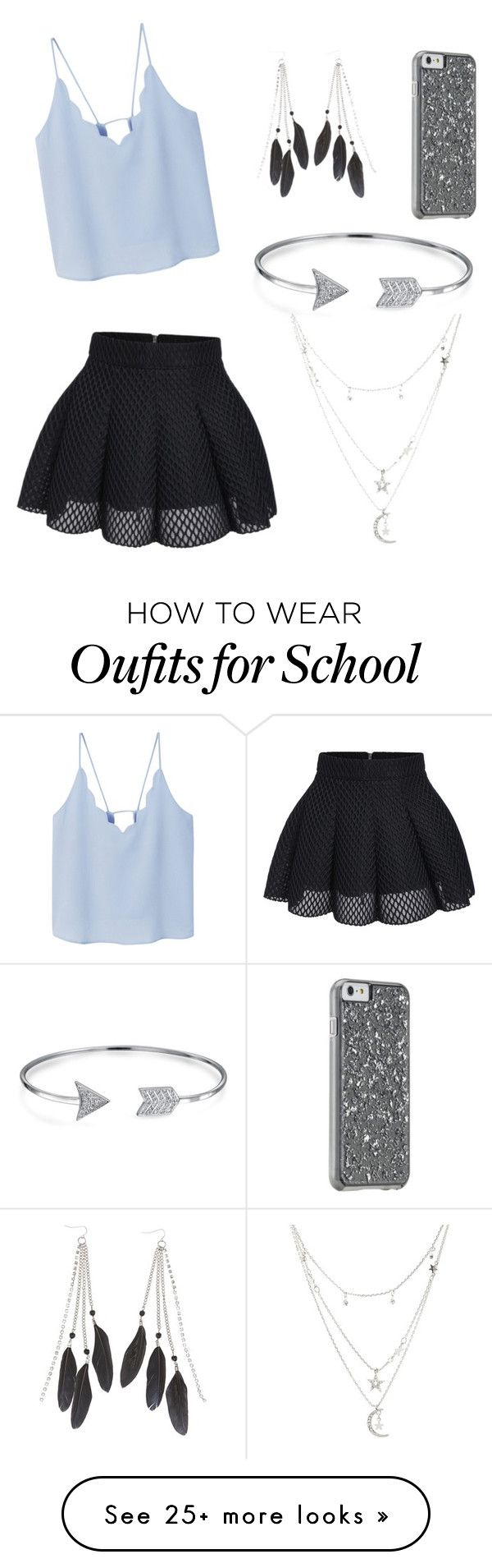 """Last day of school."" by mariahmata33 on Polyvore featuring MANGO, Charlotte Russe and Bling Jewelry"