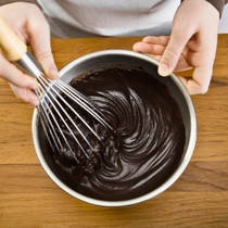 Low Carb Chocolate Ganache (for Truffles or Sauce)  8 oz unsweetened chocolate  1 cup heavy cream   1 teaspoons vanilla   1/4 teaspoon salt   2 cups erythritol     Artificial sweetener equal to one cup of sugar Heat the cream, vanilla, sweetener and salt until bubbles form. Remove from heat. Add chocolate pieces and let melt, stirring occasionally. Add erythritol.