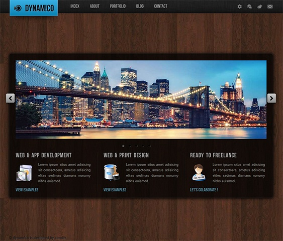 This single page site template comes with horizontal scrolling, a working contact form with live validation, Fancy Box lightbox, light and dark colour schemes, Twitter integration, Cufon front replacement, cross-browser compatibility, and lots of other great features.