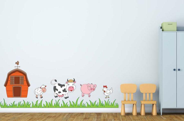Barn Farm Animals Wall Decal