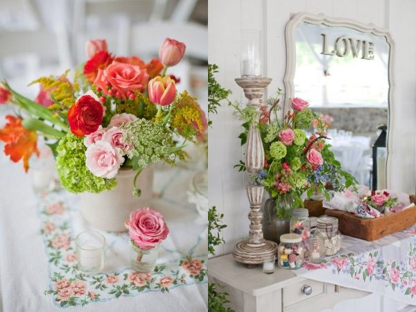 love tall candlestick and the spring colors: Flowers Decoration, Outdoor Wedding, Shabby Chic Flowers, Romance Vintage Shabbychic, Wedding Party Flowers, Wedding Shabby Chic, Cheap Wedding Flowers, Shabby Chic Wedding Flowers, Shabby Chic Weddings
