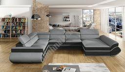 Couchgarnitur GENESIS XL Sofa mit Schlaffunktion Couch Polsterecke Ecksofa