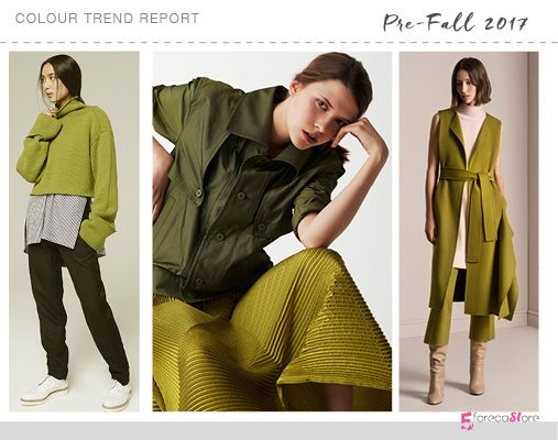 Olive Green The 10 Must have colour trends for Pre-Fall 2017 Amanda Wakeley, Issey Miyake, TSE