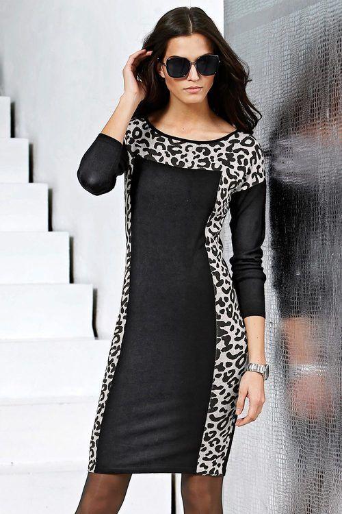 Capture European Animal Print Knit Dress Online | Shop EziBuy