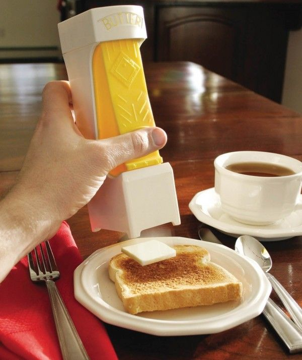 One Click Butter Cutter - The one-click #butter #cutter holds and slices perfect pats of butter with just a squeeze.