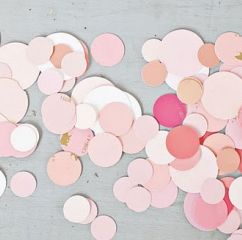 diy wedding confetti - made from paint chips