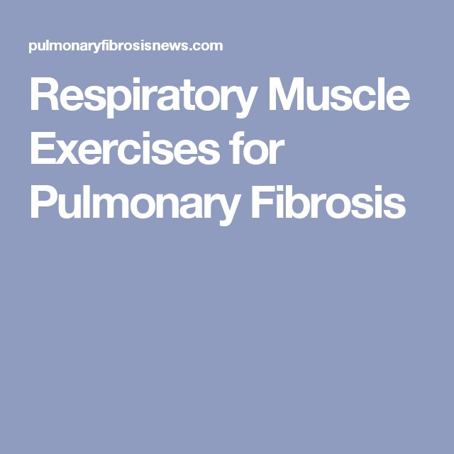 Respiratory Muscle Exercises for Pulmonary Fibrosis