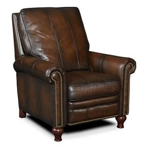 Seven Seas Seating by Bradington Young Reclining Chairs Transitional Recliner with Turned Legs and Nailhead Trim - Baer's Furniture - High Leg Recliner Boca Raton, Naples, Sarasota, Ft. Myers, Miami, Ft. Lauderdale, Palm Beach, Melbourne, Orlando, Florida