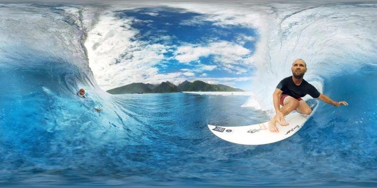 Vidéo 360°: Surfez les plus belles vagues de Tahiti comme si vous y étiez - #video #surf #glisse #extreme #futur #digisport #sport #sun