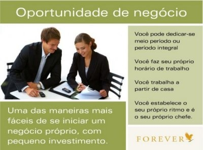 Oportunidade de negocio Forever Living Brasil.