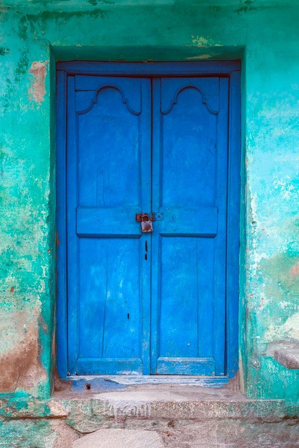 Blue Indian Door Wallpaper From Happywall Weathered Blue Wooden Wallpaper Mint Wallmural India Green Door Travel Indian Doors Wall Murals Door Wall