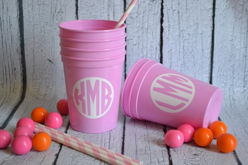 Monogrammed cups