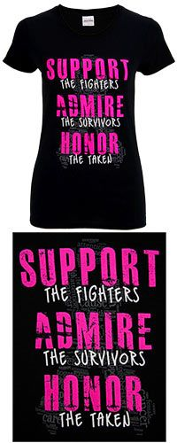 I think this is the shirt I'm getting for the breast cancer walk this year....