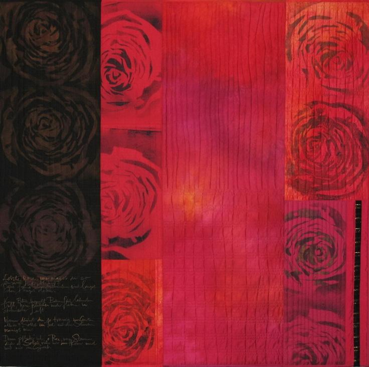 "My Quilt ""Letzte Rose"" (last rose) http://meinequiltsundich.blogspot.com"