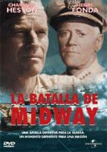 DVD CINE 2219-V - La batalla de Midway (1976) EEUU. Dir.: Jack Smight. Drama. II Guerra Mundial. Sinopse: No verán de 1942 empezou a guerra naval, na que norteamericanos e xaponeses enfrontáronse polo dominio do Pacífico. Mentres a frota de portaavións xaponeses loitaba para destruír as naves inimigas e conquistar Midway, as forzas estadounidenses tentaban resistir o envite.