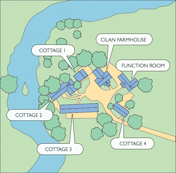 The plan of Rivercatcher Luxury Holiday Cottages www.rivercatcher.co.uk   Luxury Holiday Cotagges