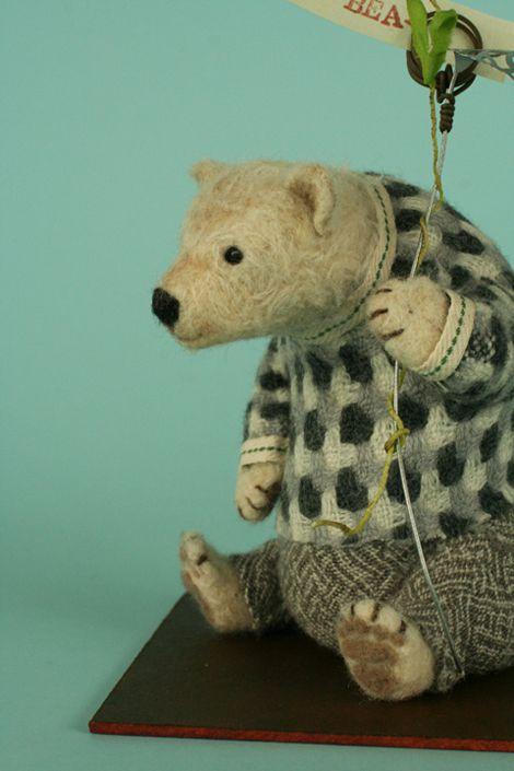 Sweet bear in felt.