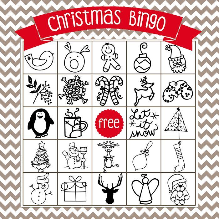 Printable Christmas Bingo Game - in English and Spanish - The Girl Creative
