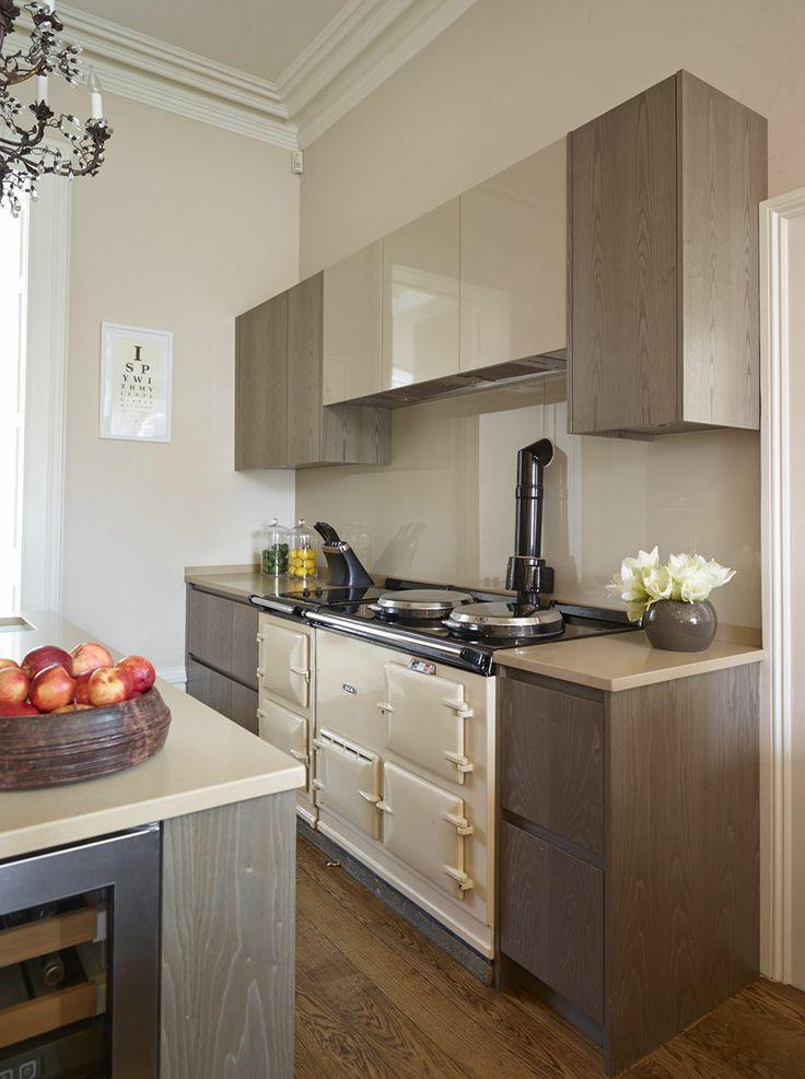 Melissa miller interiors aga in a modern kitchen for Aga kitchen designs