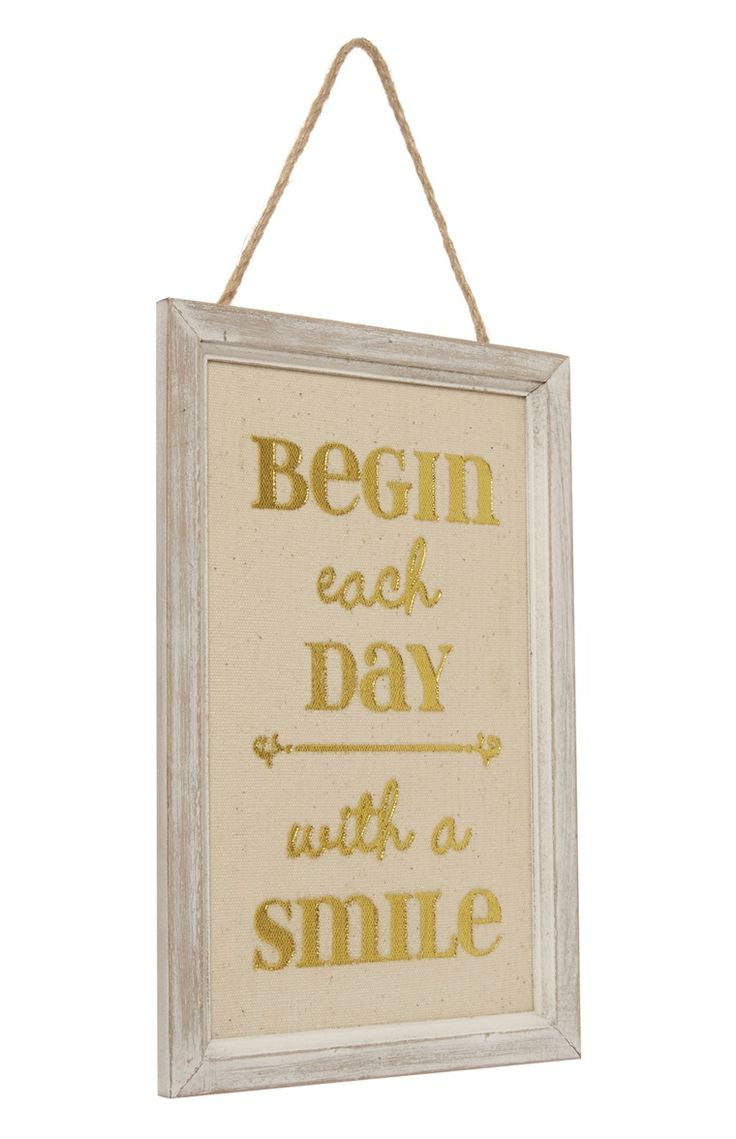 Primark london fashion week day in the life primark womenswear - Primark Begin Each Day Wooden Hanging Plaque