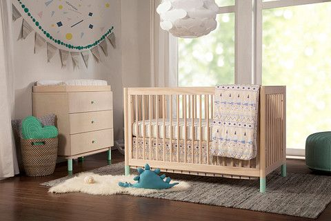 Babyletto Gelato 4-in-1 Convertible Crib The Gelato Crib brings playful practicality to your nursery. Rounded spindles make this crib simple yet a total statement piece while rounded posts ensure safety for wobbly toddlers. To add personality, the feet are easily removable and can be replaced with either spring yellow or cool mint options (sold separately).