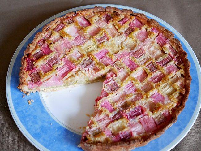 Rabarbertaart met pistache (bakken) | Diana's mooie moestuin